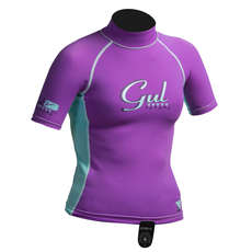 Gul Surf Junior Girls Short Sleeve Rashguard 2017 - Iris/Glacier