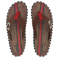 Gumbies Islander Canvas Flip Flops - Woody