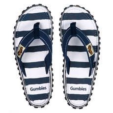 Gumbies Womens Islander Canvas Flip Flops - Deck Chair
