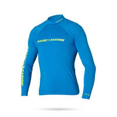 Magic Marine Cube Long Sleeve Rashvest 2019 - Blue