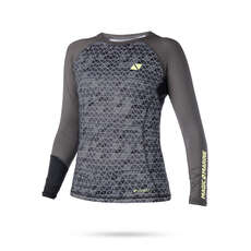 Magic Marine Womens Energia Manica Lunga Rashvest 2019 - Grigio