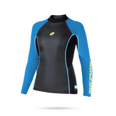 Magic Marine Womens Ultimate 3mm Neoprene Long Sleeve Vest 2020 - Blue