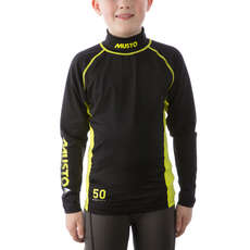 Campionato Musto Giovanile Sunblock Long Sleeve Rash Guard 2017 - Nero
