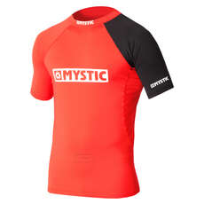 Mystic Chest Logo Short-Sleeve Rash Vest 2019 - Red