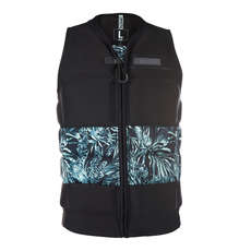 Mystic Shred Front-Zip Impact Vest  - Black