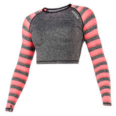 Mystic Women Dazzled Longsleeve Crop Top Rash Vest 2018 - Coral