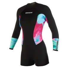 Mystic Womens Diva 3/2mm BZip Longarm Shorty Wetsuit 2019 - Aurora