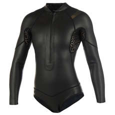 Mystic Womens Diva 3/2mm FZip Longarm Shorty Wetsuit 2019 - Black