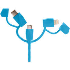 Outdoor Tech Calamari 2.0 3-In-1 Charge Cable - Electric Blue