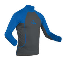Palm Rash Guard Longsleeve  - Gris Jet / Bleu