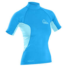 Palm Womens NeoFlex Shortsleeve Top 2017 - Aqua/Glacier