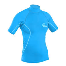 Mangas Cortas Palm Womens Rash Guard  - Aqua