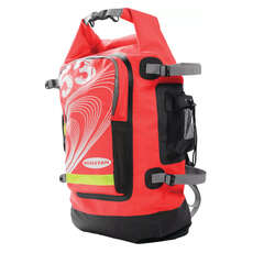 Ronstan Sailing Roll Top Dry Bag / Back Pack 55L - Rosso