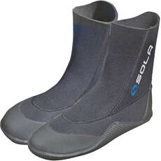 Sola 5mm Pull-On Wetsuit Boots - Black/Blue