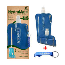 SwimCell Hydramate Foldable Bottle with Bottle Opener - Dark Blue