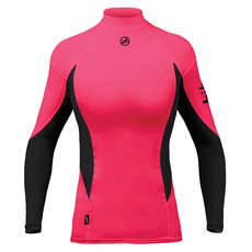 Zhik Womens Long Sleeve Spandex Top - Pink