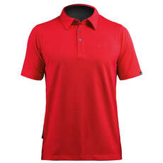 Zhik Mens Poly Cotton Sailing Polo - Red