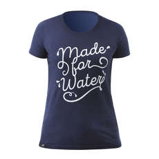 Maglietta Zhik Womens Made For Water Poly-Cotton 2019 - Blu