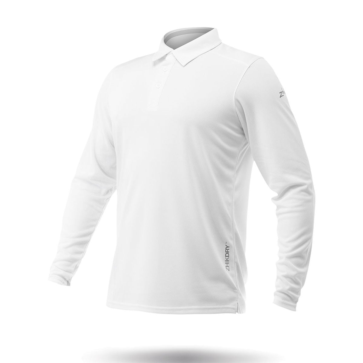 766363b74 Zhik Long Sleeve ZhikDry LT Sailing Polo 2019 - White
