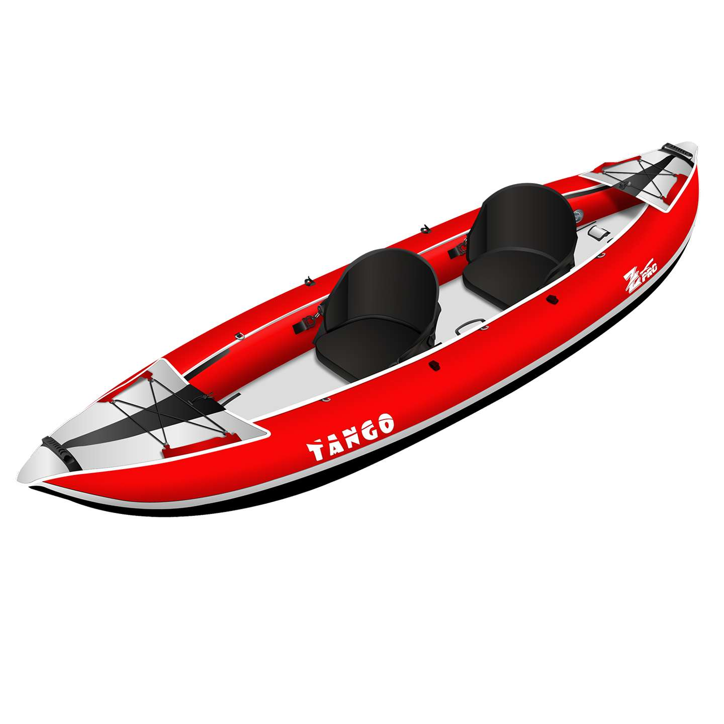 Details about Z-Pro Tango 2 Inflatable Kayak Red - 1 or 2 Person Kayak